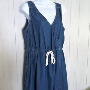 Tommy Hilfiger Dresses - Tommy Hilfiger Faux Wrap Chambray Dress Size L